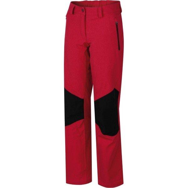 Červené softshellové dámské kalhoty Hannah