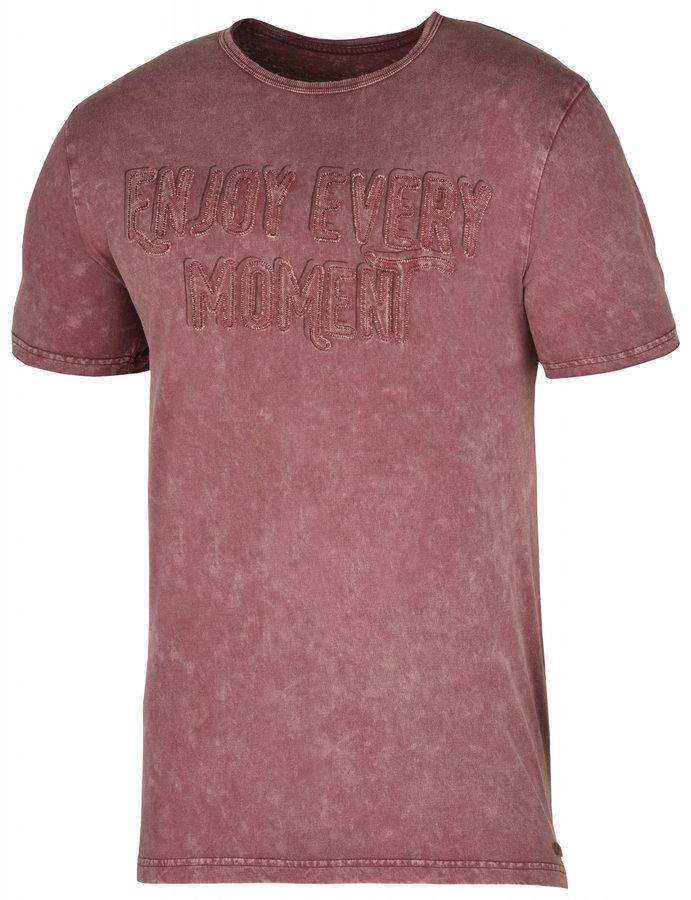 Červené pánské tričko s krátkým rukávem Husky - velikost M