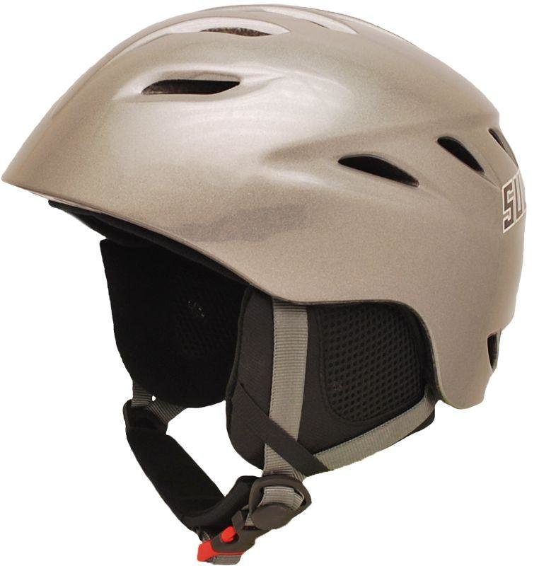 Stříbrná lyžařská helma Sulov - velikost 59-60 cm