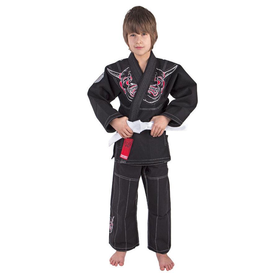 Černé kimono na jiu-jitsu Fighter - velikost 143