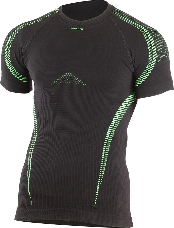 Černé termo pánské termo tričko s krátkým rukávem Lasting - velikost S-M