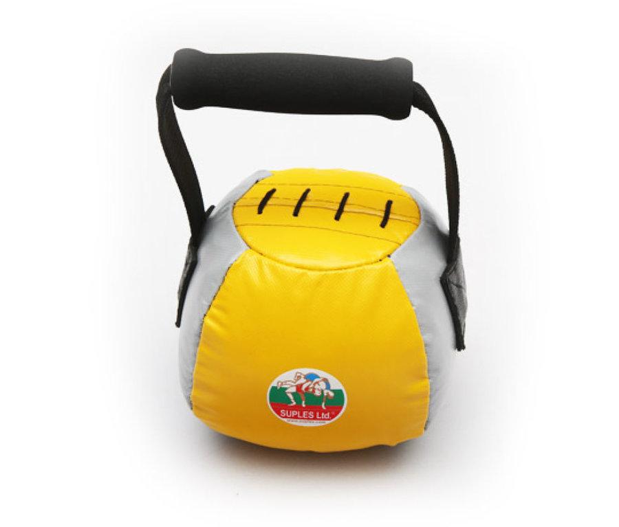Kettlebell - Suples Fit® bell 4kg - žlutá