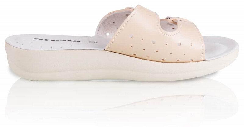 Béžové dámské pantofle Fit Walk