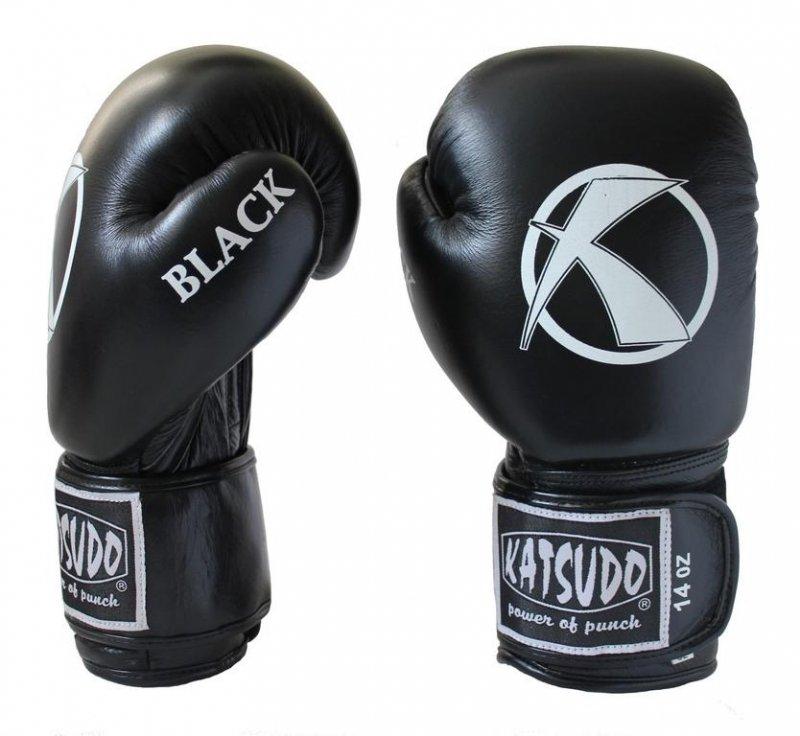 Černé boxerské rukavice Katsudo