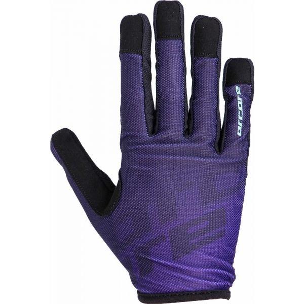 Fialové cyklistické rukavice Arcore