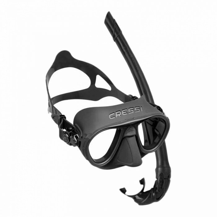 Set CRESSI maska CALIBRO & šnorchl CORSICA - bílá
