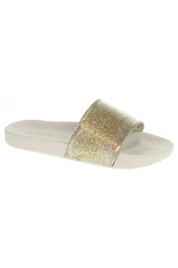 Zlaté dámské pantofle Zaxy - velikost 38 EU
