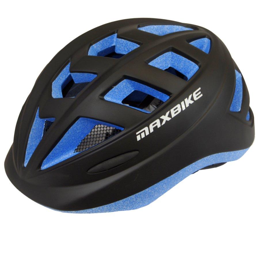 Černá dětská cyklistická helma Maxbike - velikost 52-56 cm