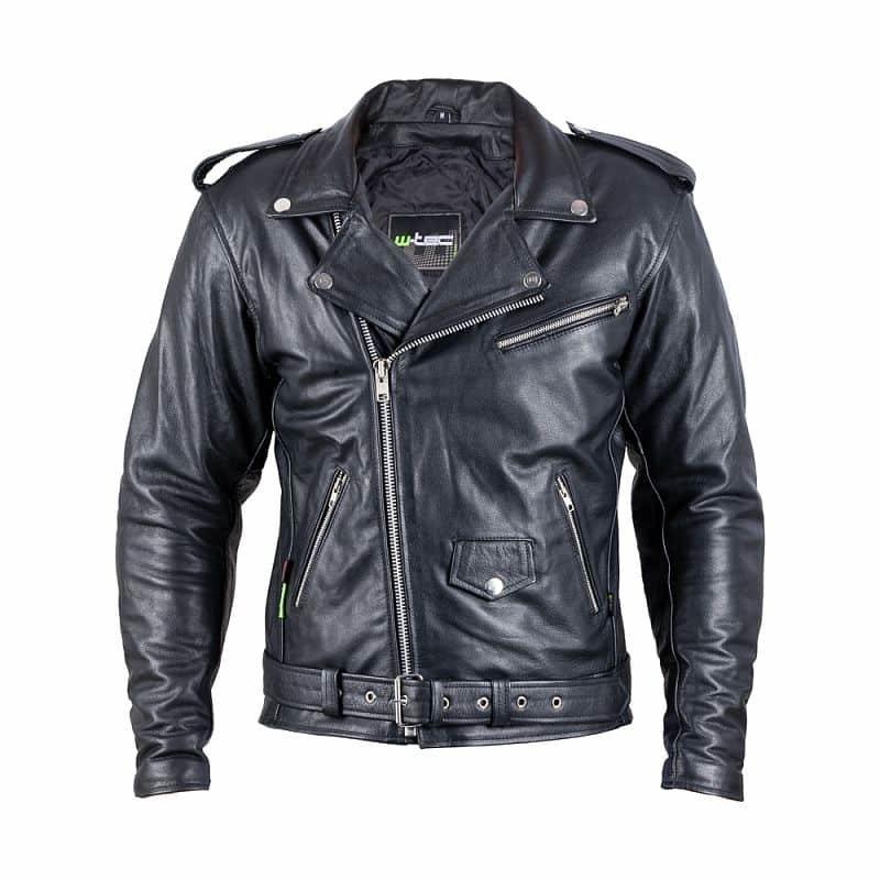 Černá motorkářská bunda Perfectis, W-TEC