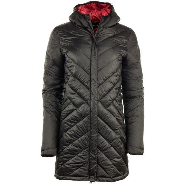 Černý prošívaný dámský kabát Alpine Pro