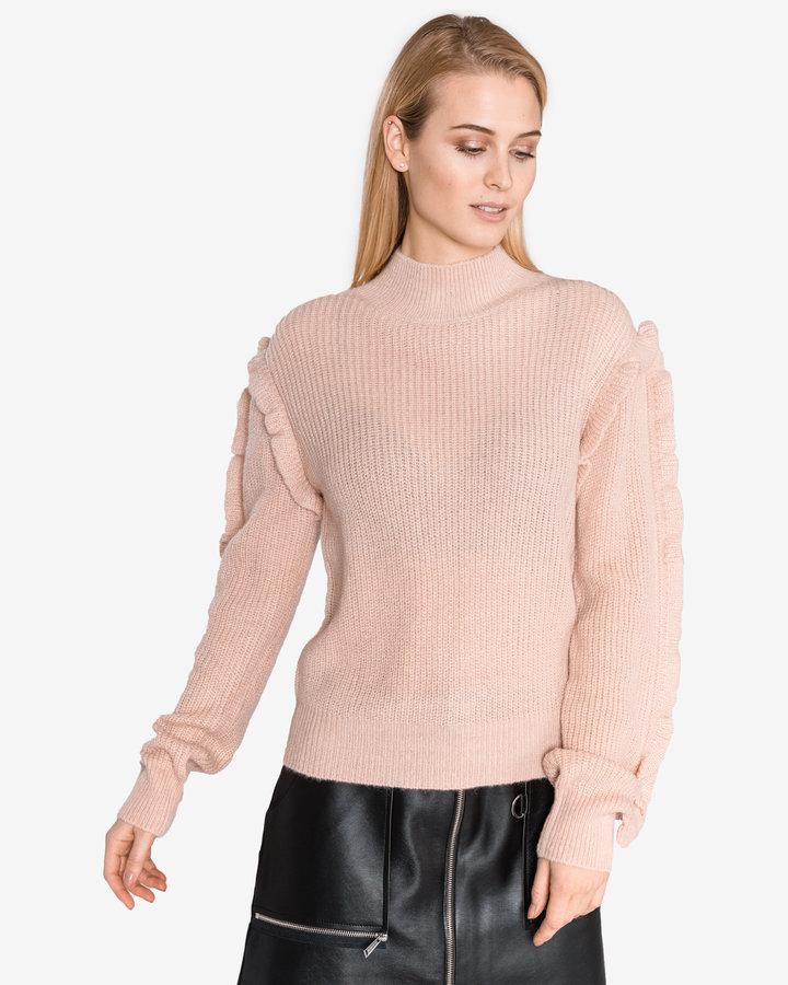 Růžový dámský svetr Silvian Heach