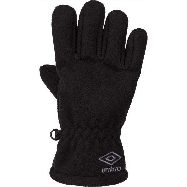Černé chlapecké zimní rukavice Umbro