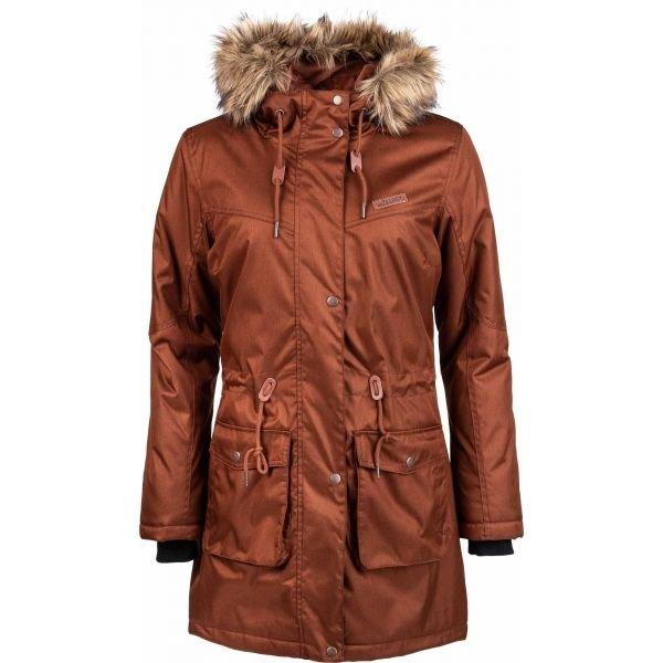 Hnědý dámský kabát Willard