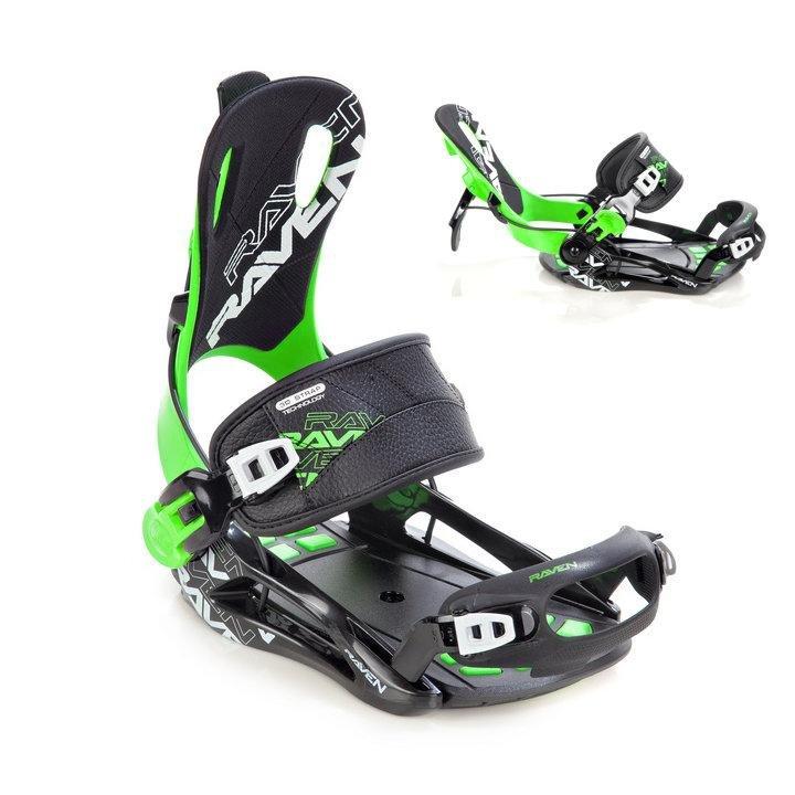 Zelené vázání na snowboard NOW