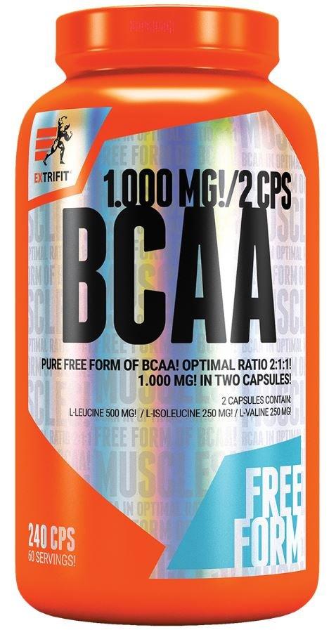 BCAA - Extrifit BCAA 2:1:1 Pure 240 kapslí