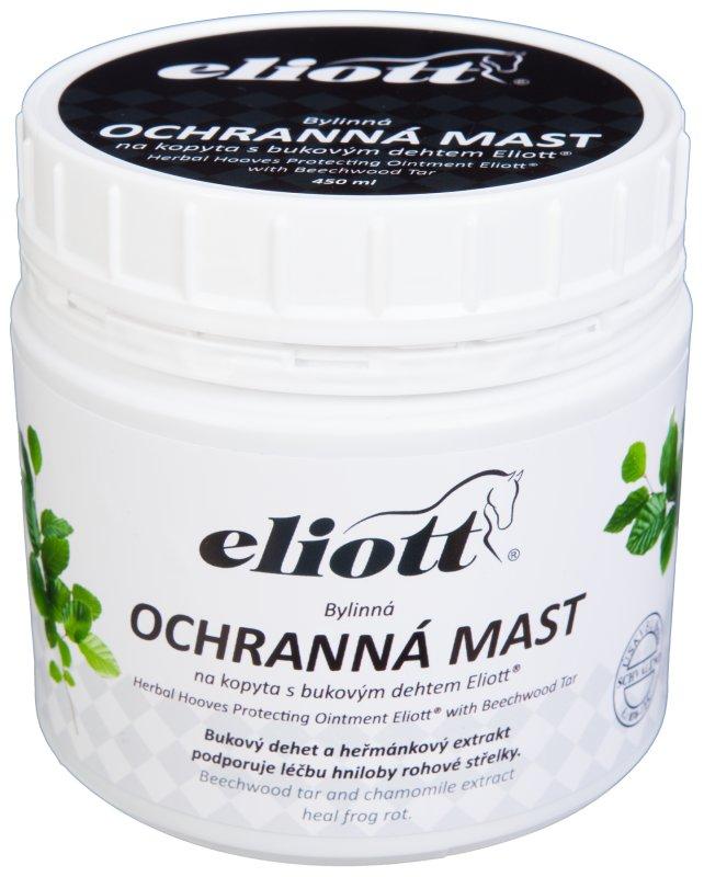 Ochranná bylinná mast s bukovým dehtem na kopyta Eliott - objem 450 ml