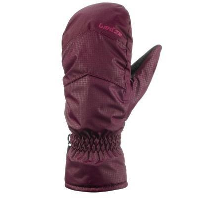 Červené lyžařské rukavice WED'ZE