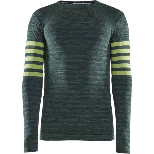 Zelené pánské funkční tričko s dlouhým rukávem Craft