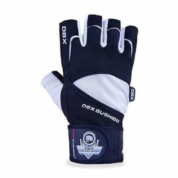 Bílo-černé fitness rukavice Bushido