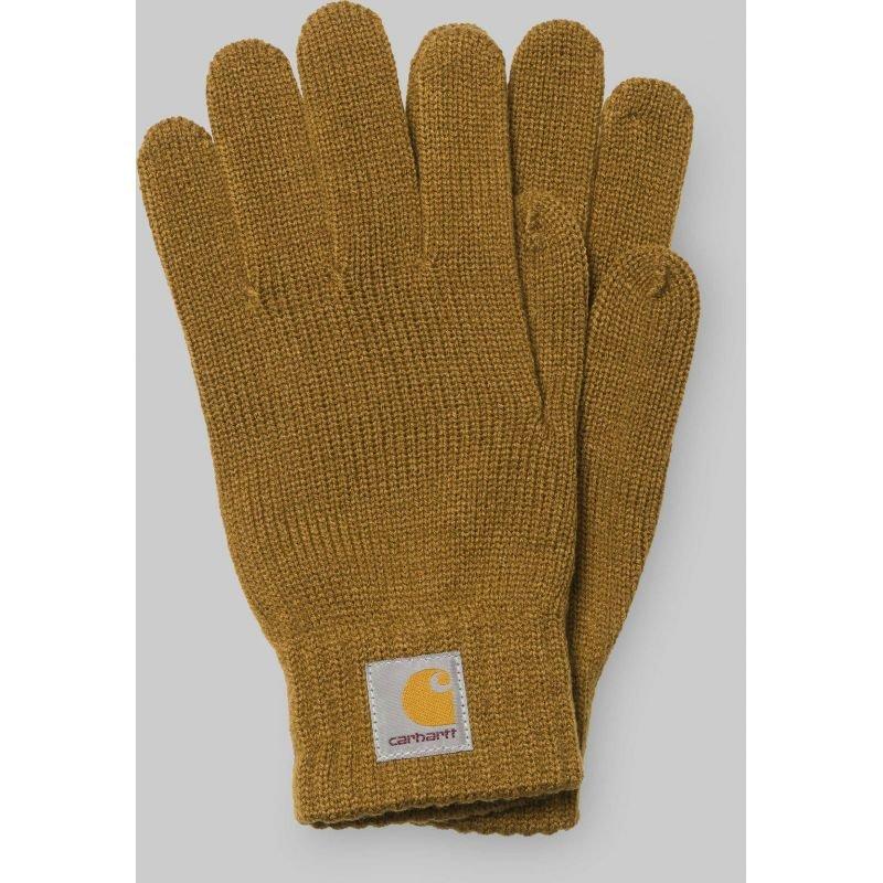 Hnědé zimní rukavice Carhartt WIP - velikost L-XL