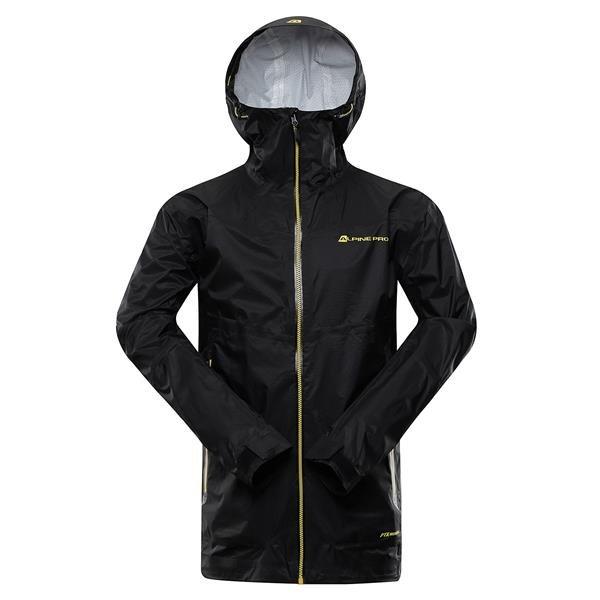 Černá nepromokavá pánská bunda s kapucí Alpine Pro