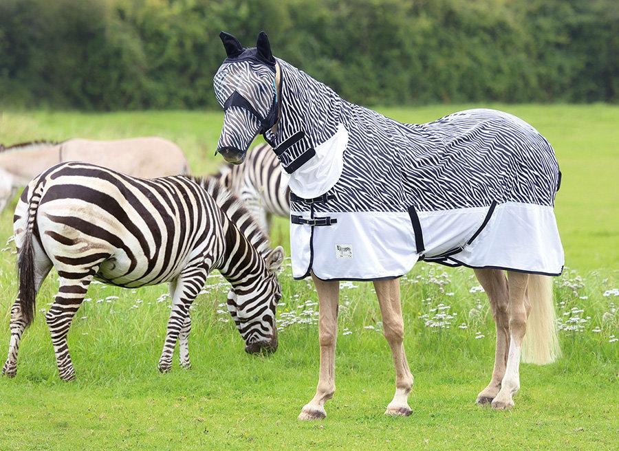 Deka na koně - DEKA PROTI HMYZU ZEBRA COMBO TEMPEST SHIRES Velikost: 105cm