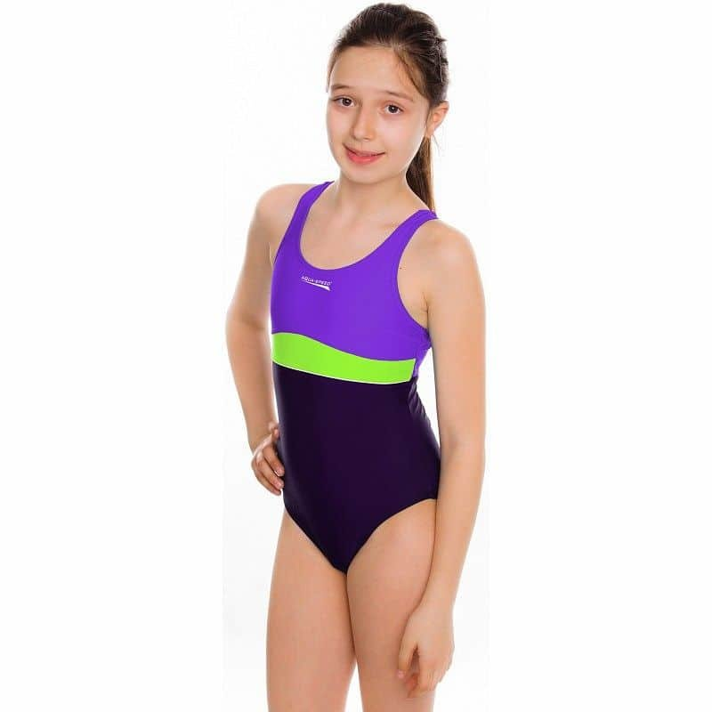 Plavky - Emily dívčí plavky barva: tyrkysová;velikost oblečení: 158