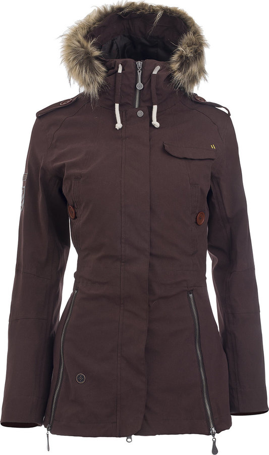 Černá zimní dámská bunda s kapucí Woox - velikost 34