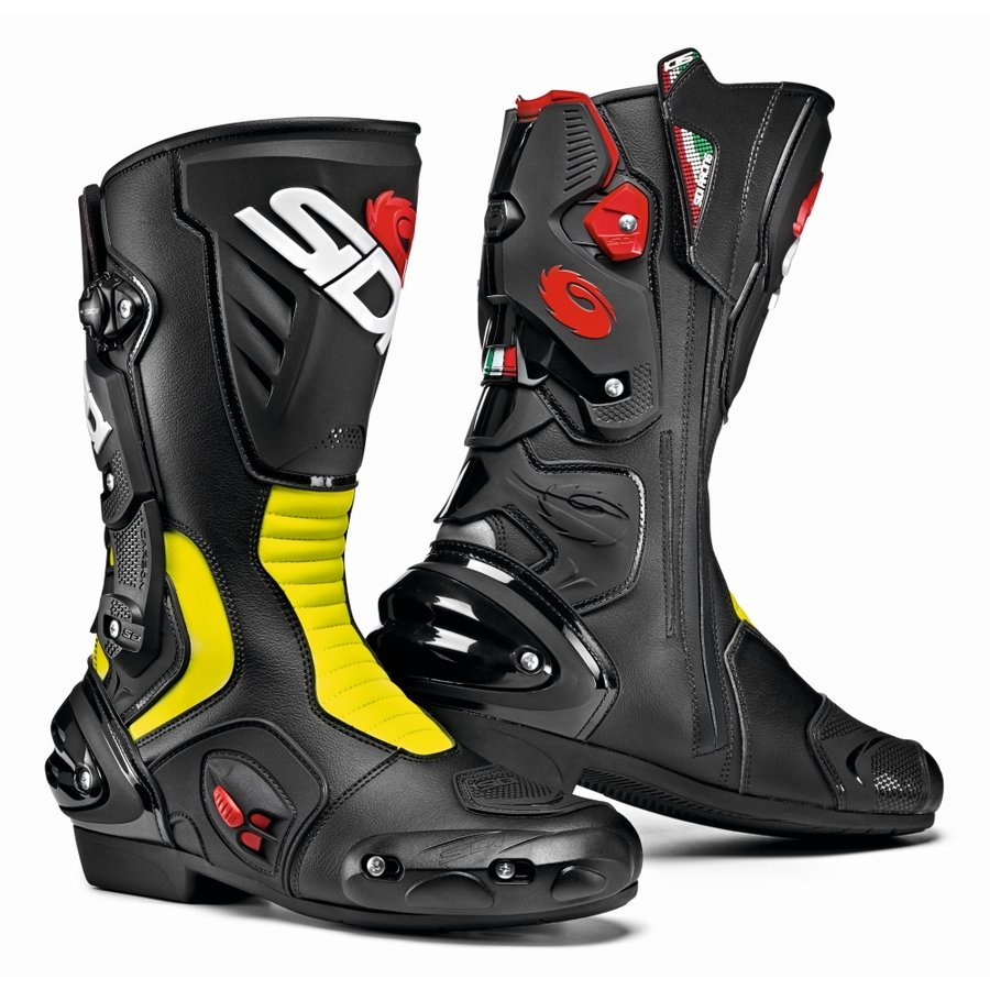 Černo-žluté vysoké pánské motorkářské boty Vertigo 2, SIDI - velikost 45 EU