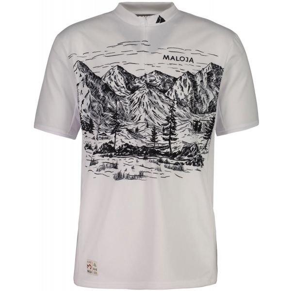 Bílý pánský cyklistický dres Maloja - velikost L