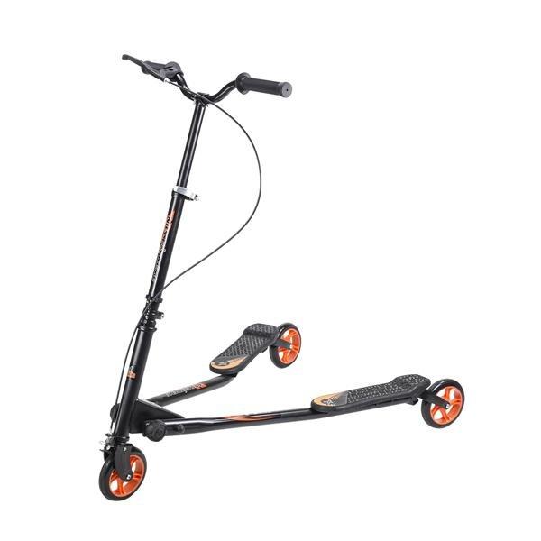 Černo-oranžová dětská trojkoloběžka FLIKER, Nils Extreme - nosnost 100 kg