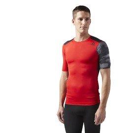 Červeno-šedé pánské tričko s krátkým rukávem Reebok