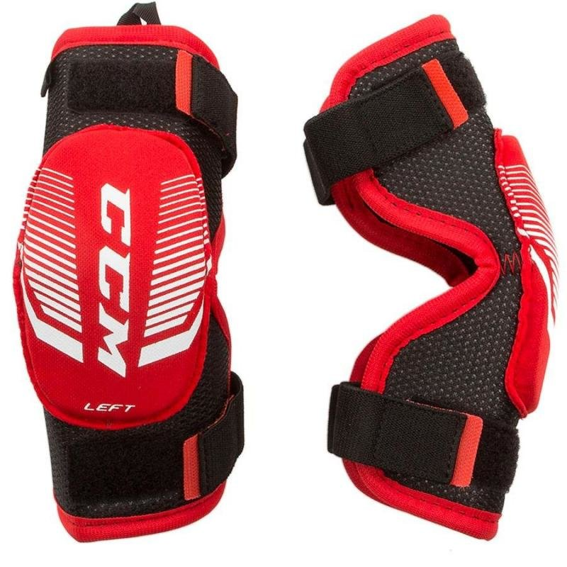Černo-červený hokejový chránič loktů - youth CCM - velikost M