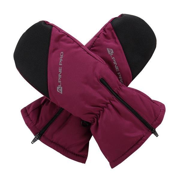 Černo-růžové dětské zimní rukavice Alpine Pro - velikost XS