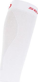 Bílé cyklistické návleky na nohy Sensor