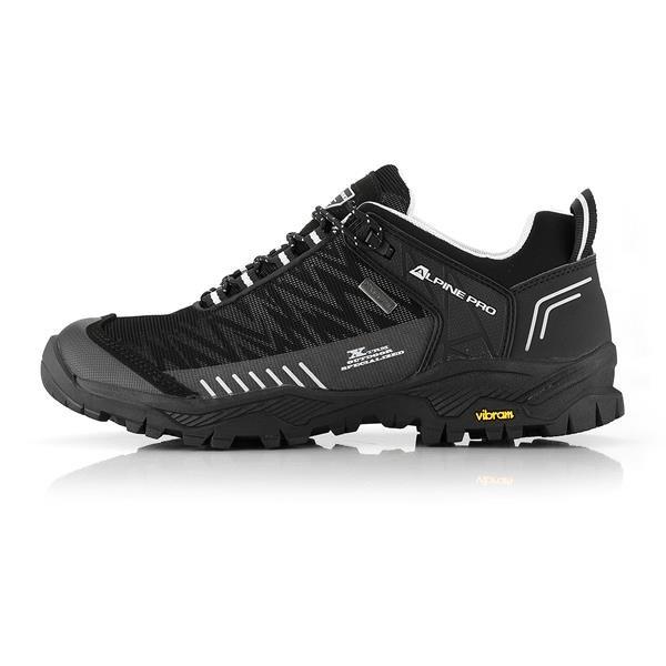 Černé nepromokavé trekové boty Alpine Pro - velikost 45 EU