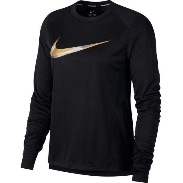 Černé dámské běžecké tričko Nike