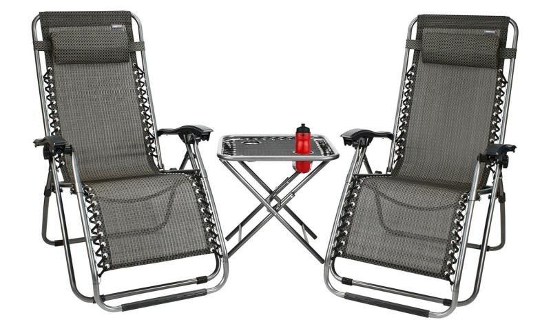 Kempingová sada nábytku - Campingový set 2 židle a stůl Luxury