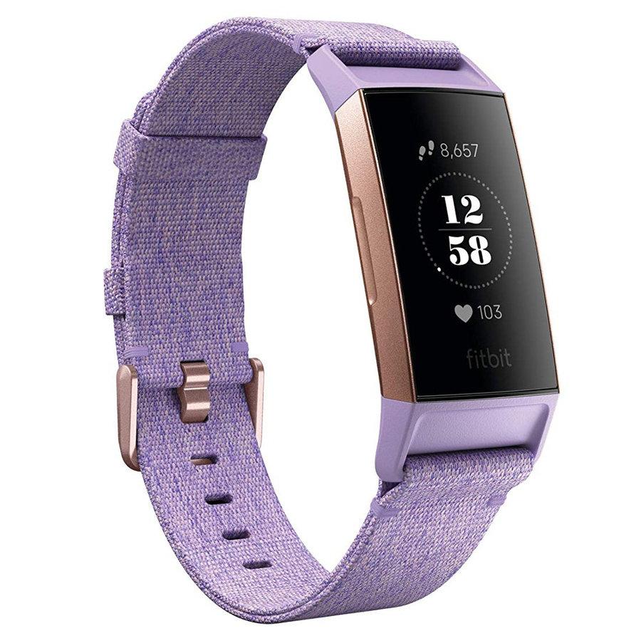 Fialový fitness náramek Charge 3, Fitbit