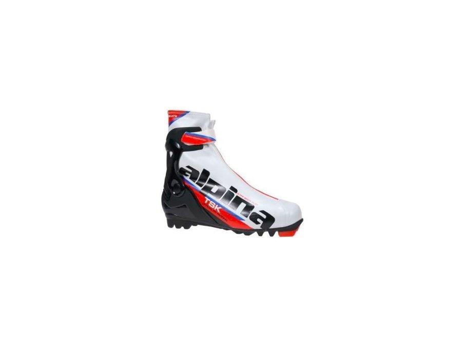Bílo-černé boty na běžky Alpina - velikost 44 EU