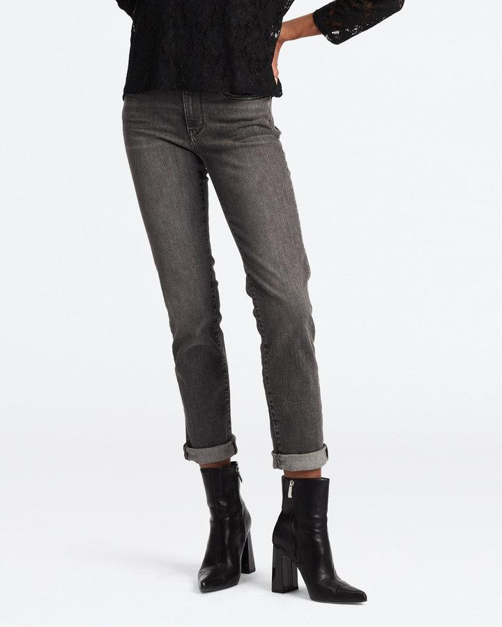 Černo-šedé dámské džíny Levi's - velikost 26