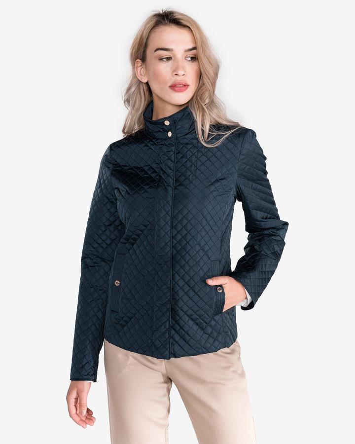 Modrá prošívaná dámská bunda Geox