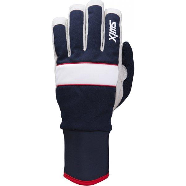 Modré rukavice na běžky Swix - velikost 10