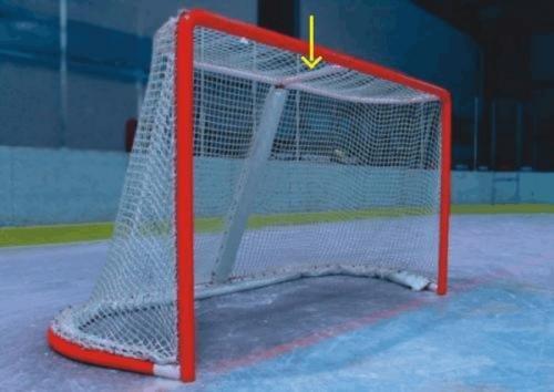 Síť do hokejové branky - Pokorný sítě chránič horní vzpěry hokejové branky