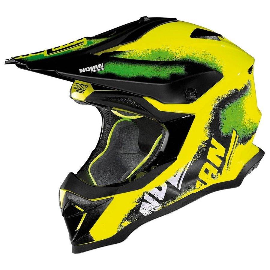 Černo-žlutá unisex helma na motorku N53 Lazy Boy LED, Nolan