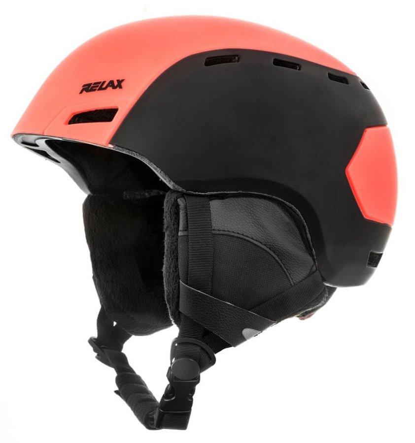 Černo-oranžová lyžařská helma Relax
