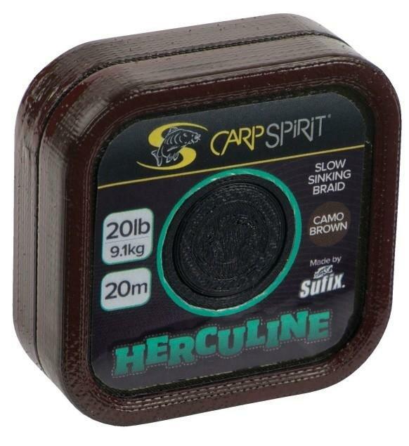 Návazcová šňůra - Carp Spirit návazcová šňůra Herculine Braid Camo Brown Barva: Camo hnědá, Nosnost: 25 lb
