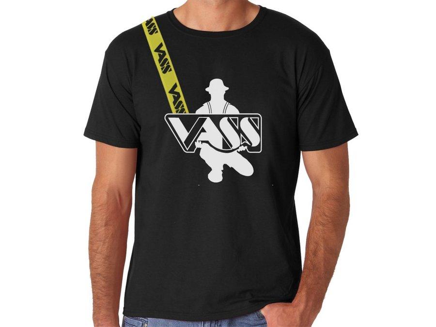 Rybářské tričko - VASS Tričko s krátkým rukávem černé Velikost: M