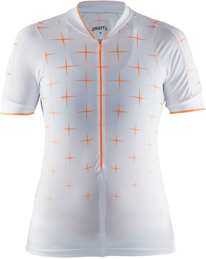Bílý dámský cyklistický dres Craft - velikost S