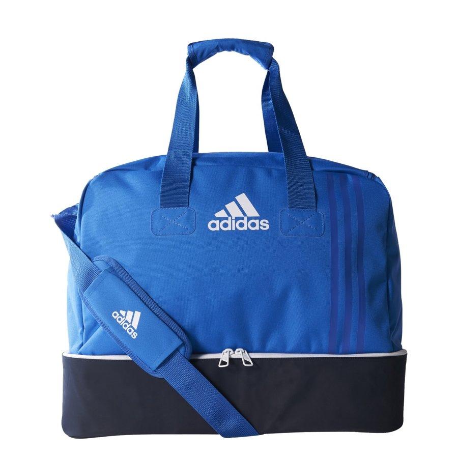 Modrá fotbalová taška s dvojitým dnem Adidas - objem 62,9 l